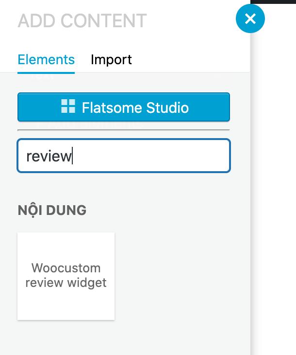 Flatsome Woocustom review widget element shortcode