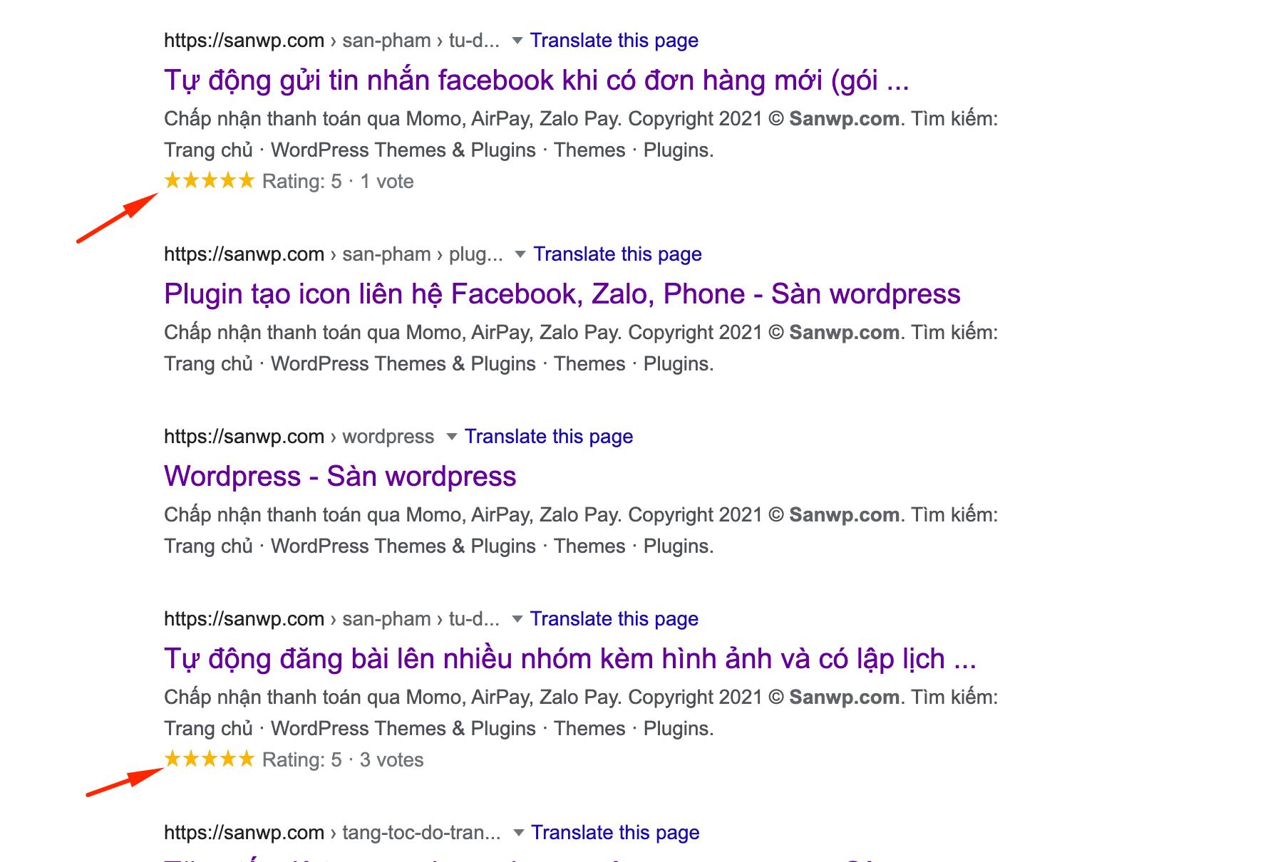 Hiển thị đánh giá sản phẩm ở kết quả tìm kiếm google